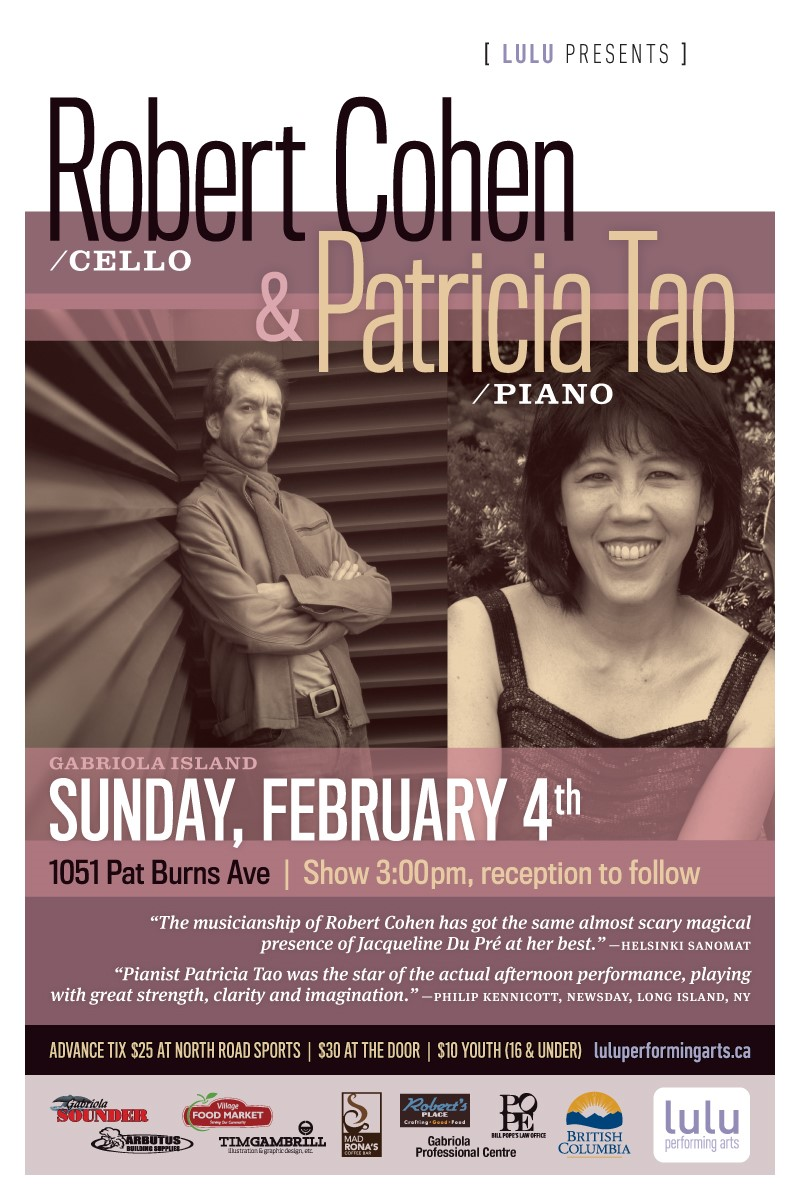 Pianist Patricia Tao with cellist Robert Cohen