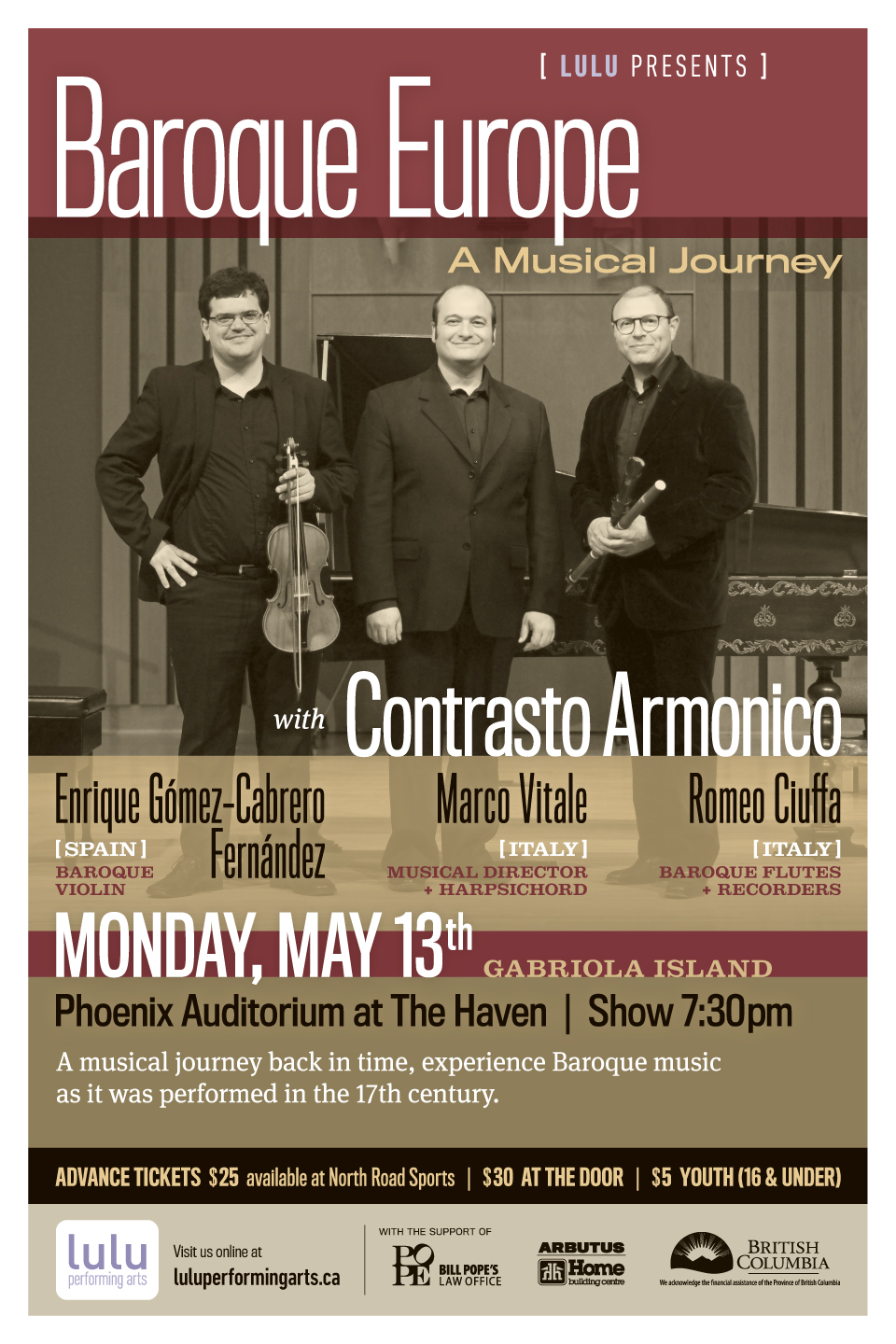 Baroque Europe: A Musical Journey with Contrasto Armonico