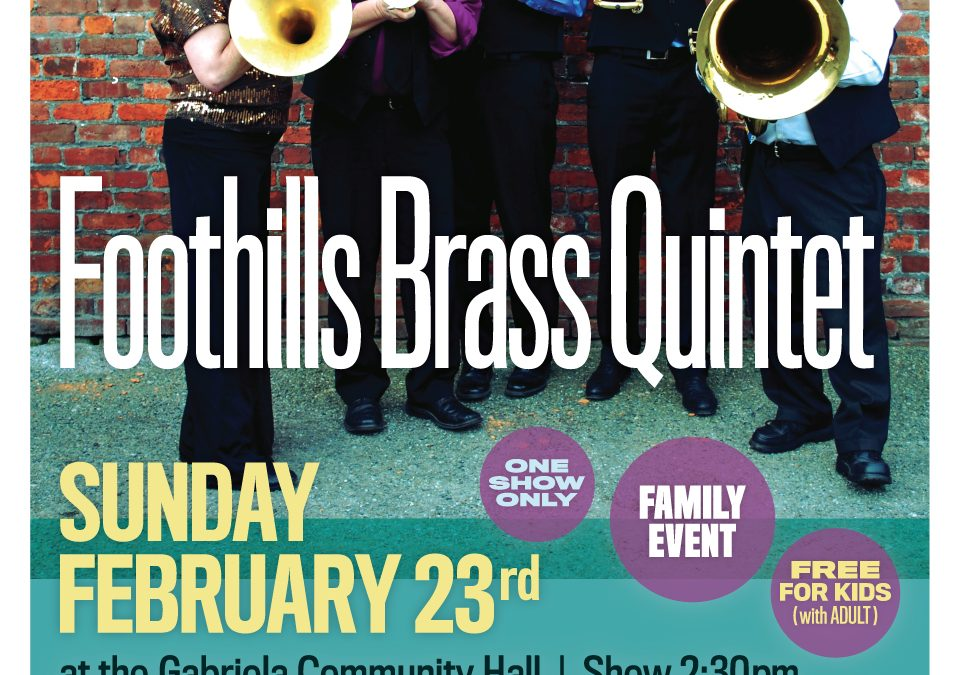 The Fab Five returns to Gabriola: Foothills Brass
